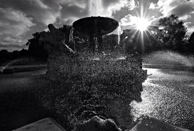 Brunnen vor Cleveland Museum der Kunst stockfoto