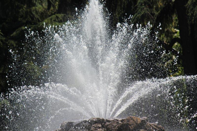 Brunnen, Wasser in der Aktion stockfotografie