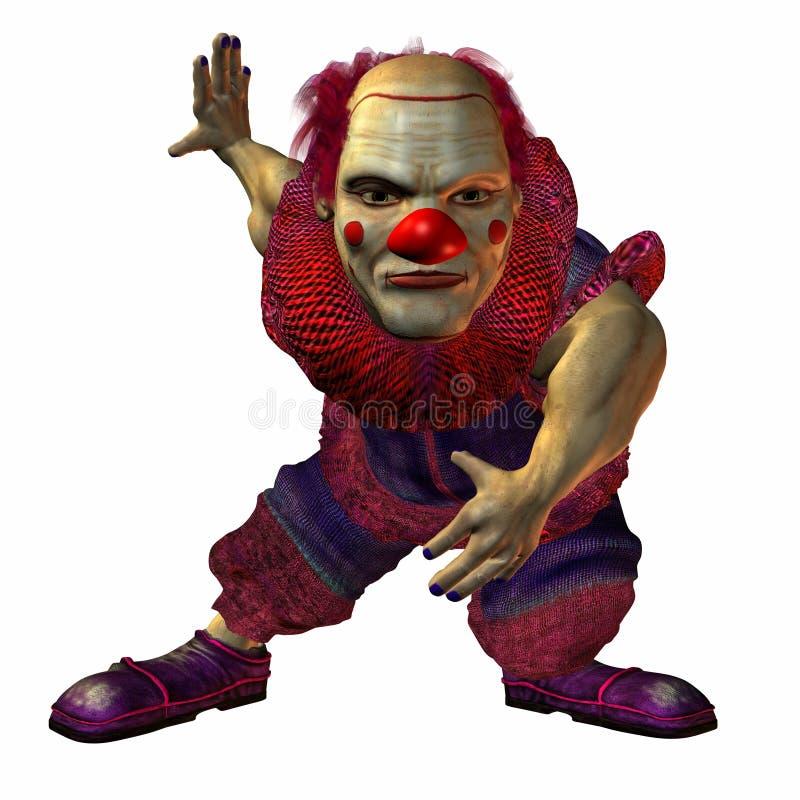 Bruno the bad Clown royalty free illustration