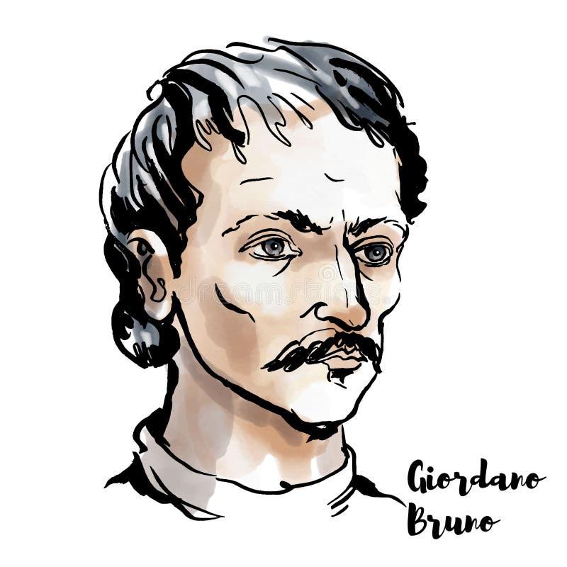bruno Giordano ilustracja wektor