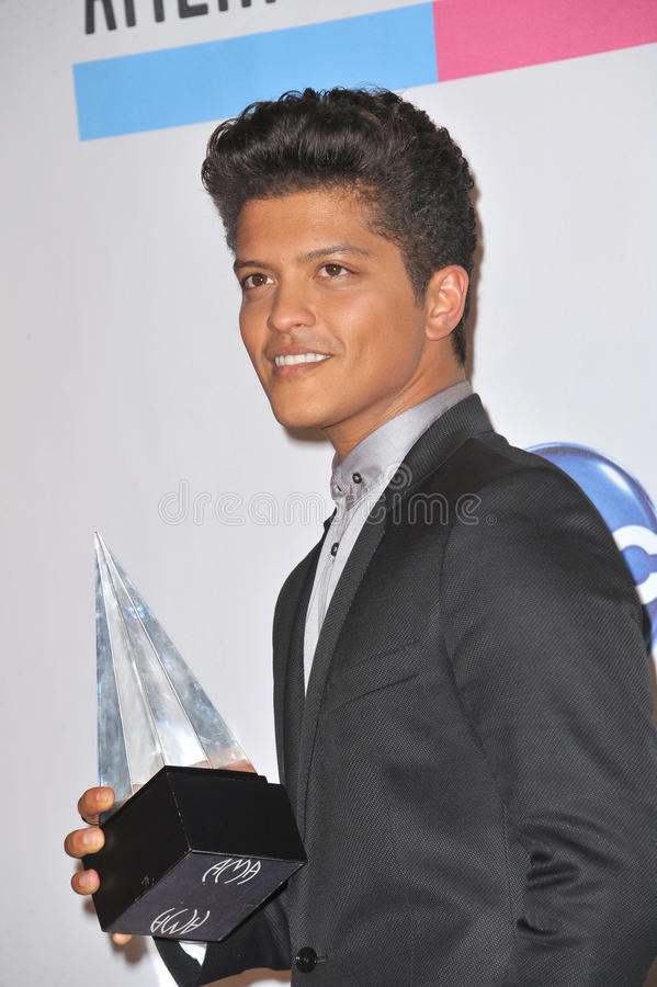 Bruno Mars stock images