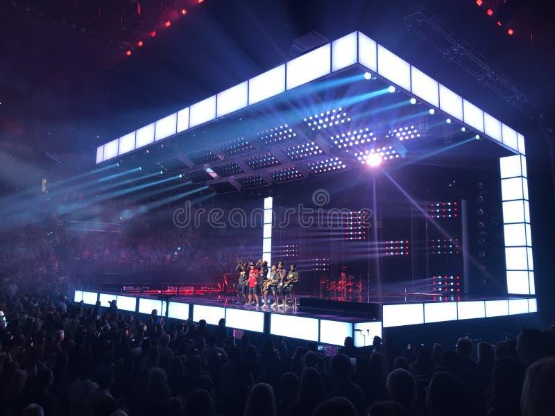 Bruno Mars koncert obrazy stock