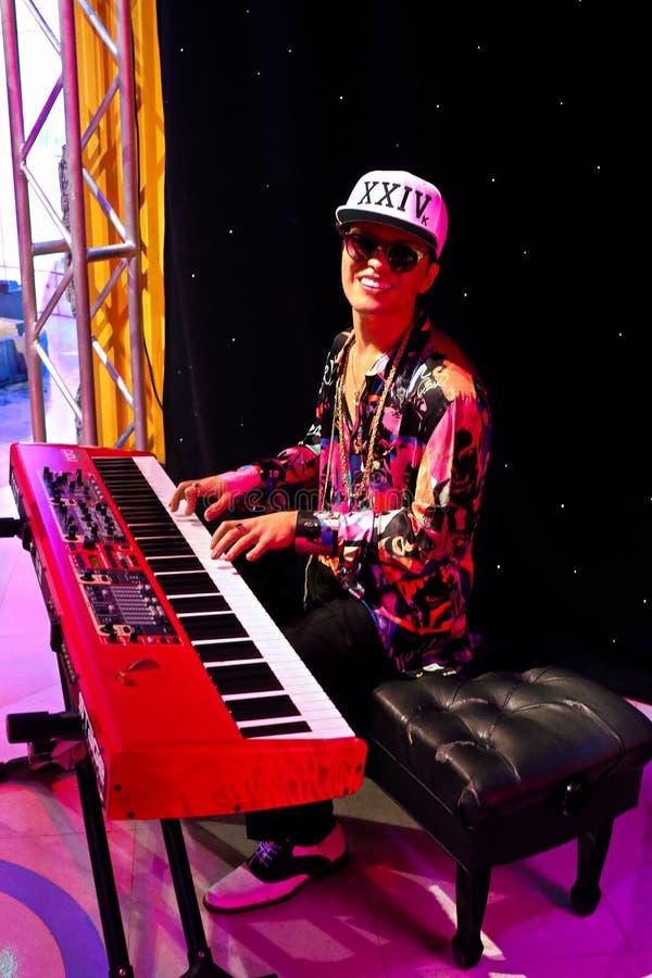 Bruno Mars, Wachsmuseum Madame Tussauds stockfoto