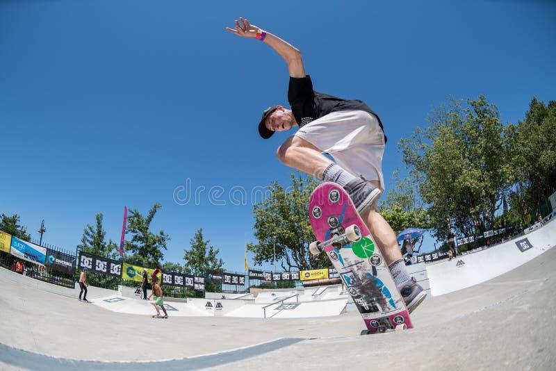 Bruno Simoes во время возможности конька DC стоковое фото rf