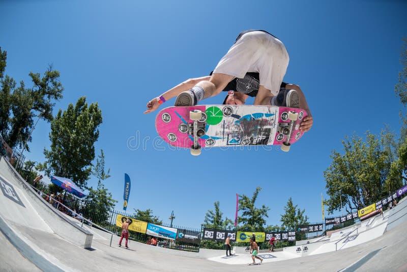Bruno Simoes во время возможности конька DC стоковые изображения rf