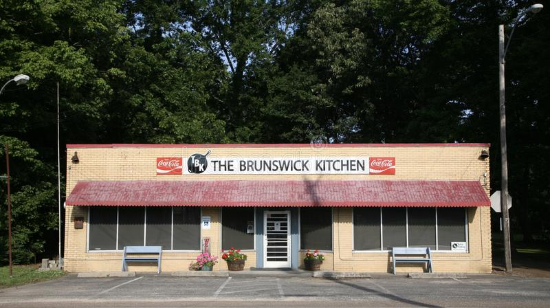 The Brunswick Kitchen. Serves country homemade style cooking royalty free stock images