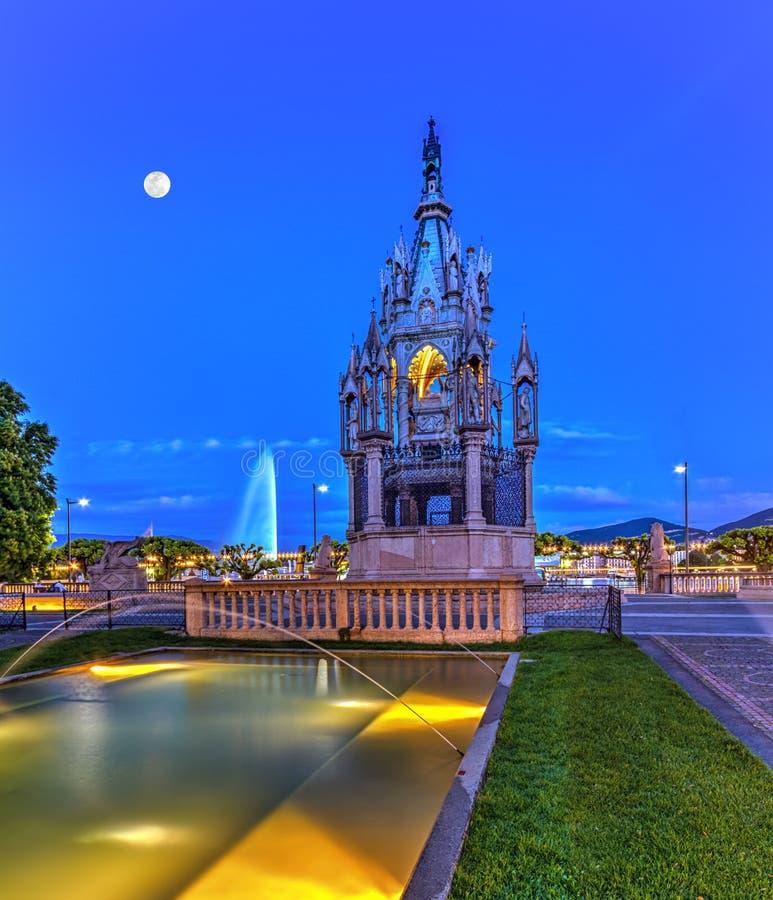 Brunswick-Monument und Brunnen, Genf stockfoto