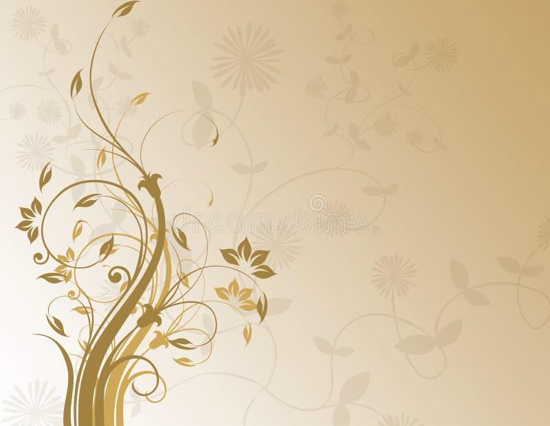 brunt blom- för bakgrund royaltyfri illustrationer