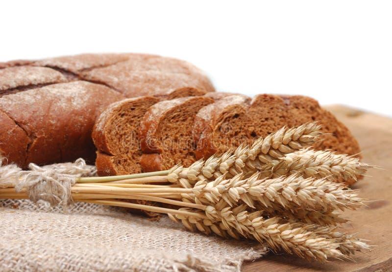Brunt bröd med öron arkivfoto
