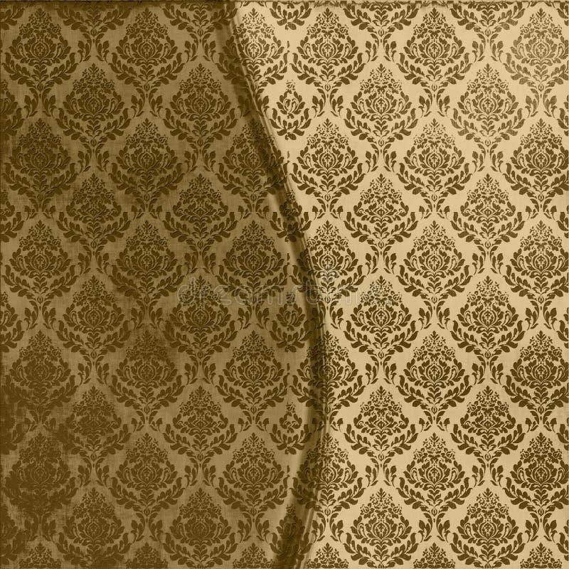 brunt damastast seamless stock illustrationer