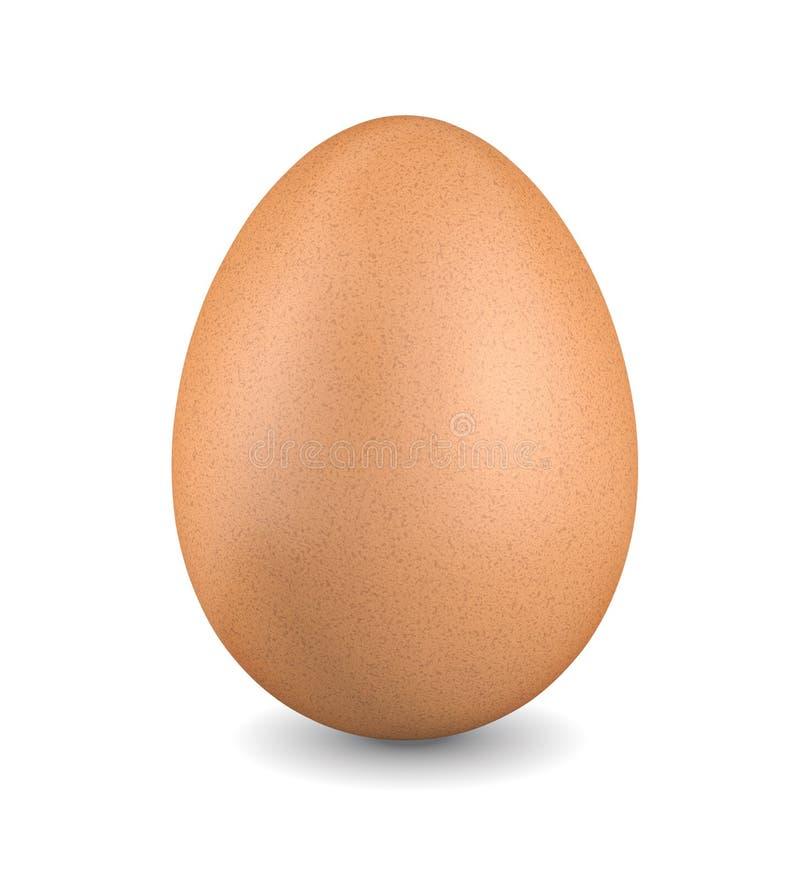 Brunt fegt ägg stock illustrationer
