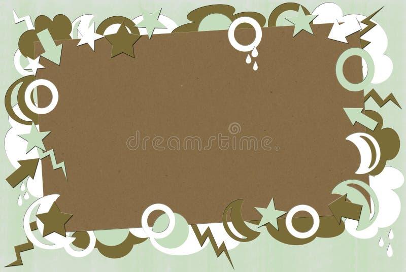 brunt grönt retro för bakgrund arkivfoton