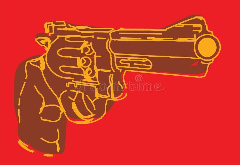 Brunt illustrativt vapen stock illustrationer