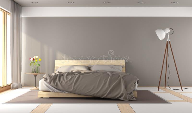 Brunt ledar- sovrum stock illustrationer