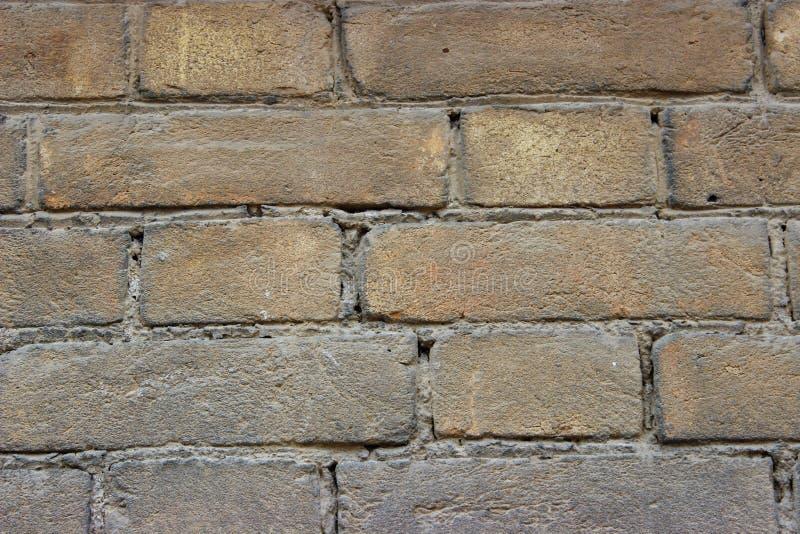 Brunt murverk gjorde i det sent - århundradet för th 19 arkivfoto