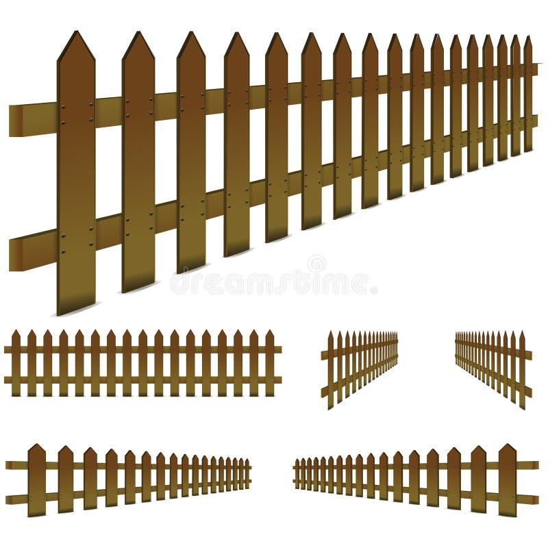brunt staket vektor illustrationer