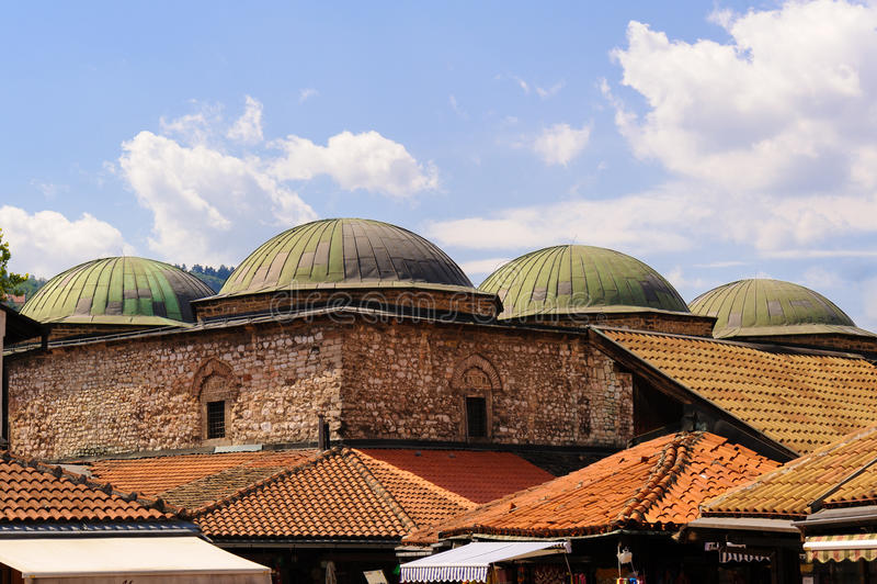 Brusa Bezistan Sarajevo royaltyfri fotografi