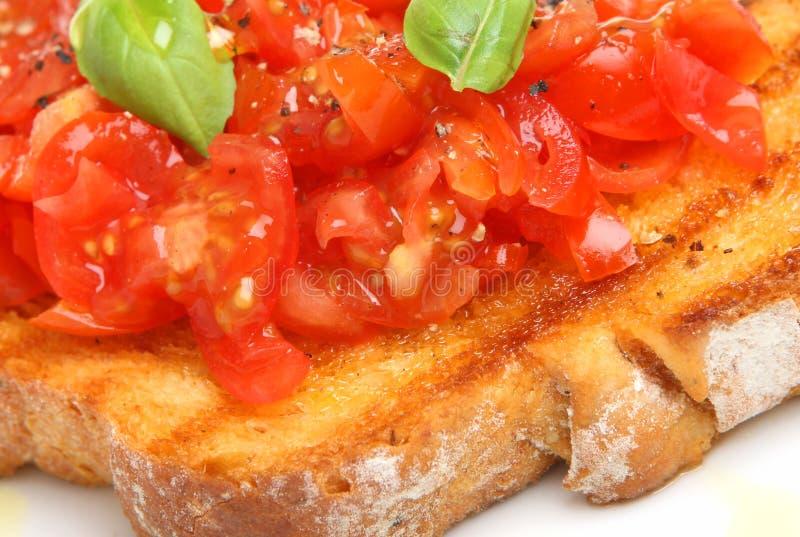 bruschetta蕃茄 免版税库存照片