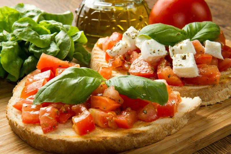 bruschetta ιταλικά στοκ εικόνες