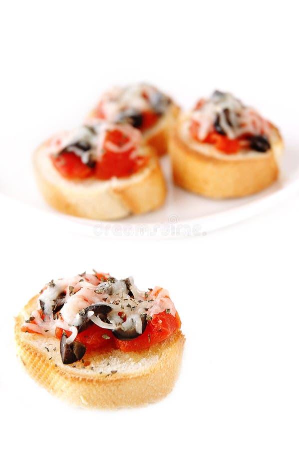 Bruschetta Bites, Antipasto royalty free stock photos