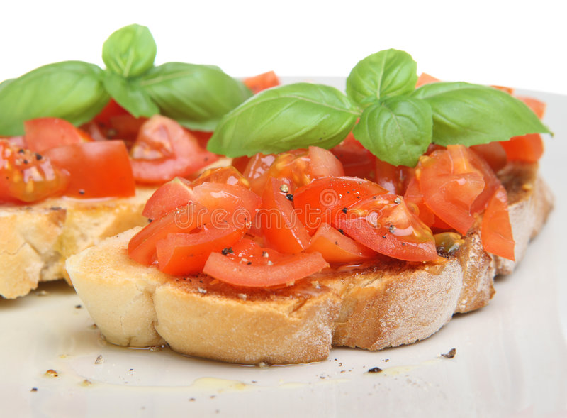 Bruschetta italiano fotos de stock
