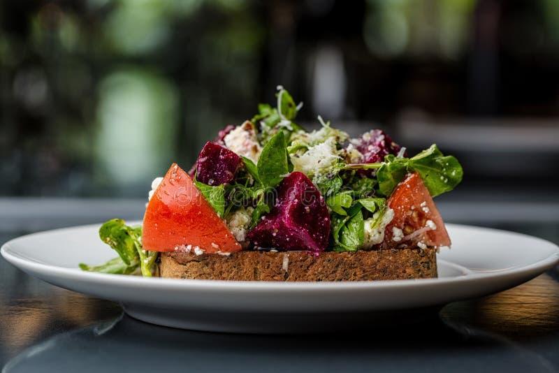 Bruschetta met groenten royalty-vrije stock fotografie
