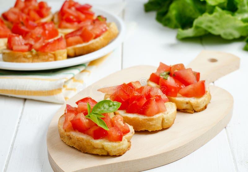 Bruschetta met tomaat royalty-vrije stock foto's