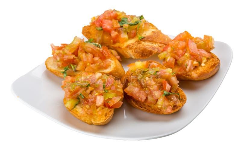 Bruschetta mit Tomate stockfotos