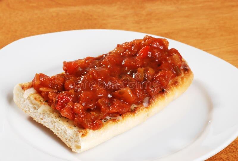 Download Bruschetta On Plate Shallow DOF Stock Photo - Image: 13377370