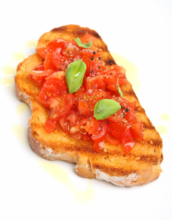 Bruschetta simple images stock