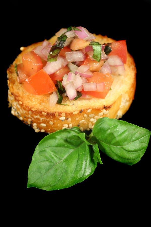 Bruschetta Tomato And Onion royalty free stock photo