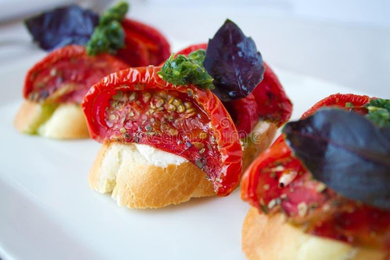 Bruschette de tomate photo libre de droits