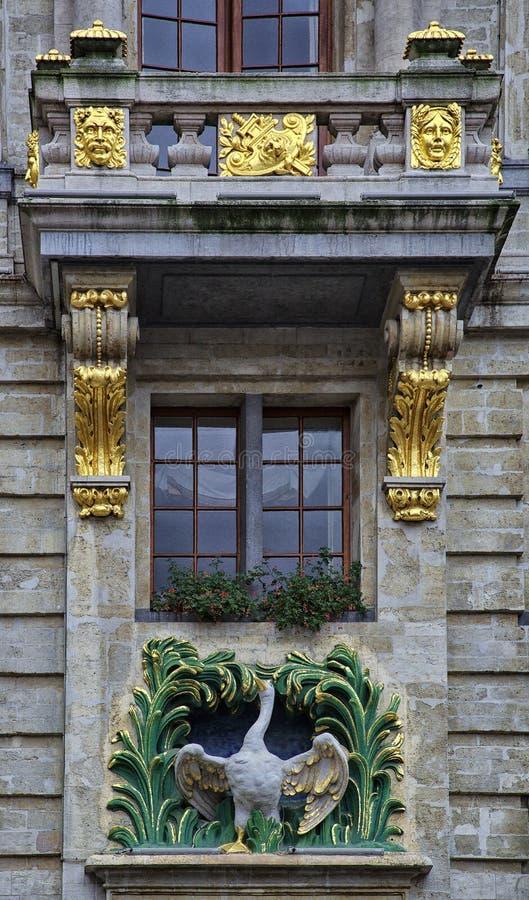 Bruselas - detalles constructivos históricos foto de archivo libre de regalías