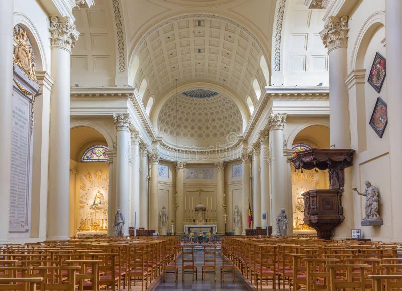 Bruselas - la iglesia de St Jacques en el Coudenberg foto de archivo