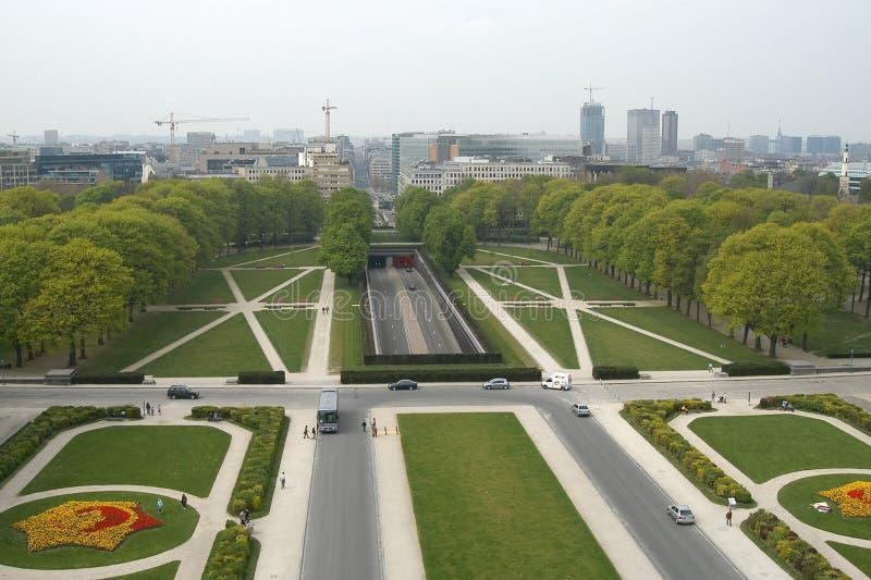 Bruselas: Parc du Cinquantenaire imagen de archivo libre de regalías