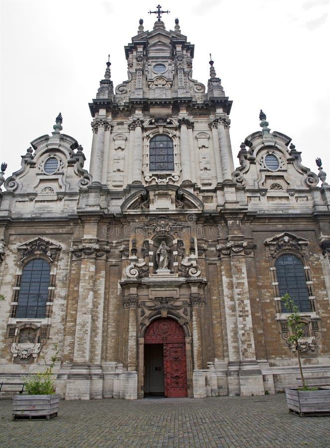Bruselas - San Juan Bautista la iglesia imagen de archivo libre de regalías