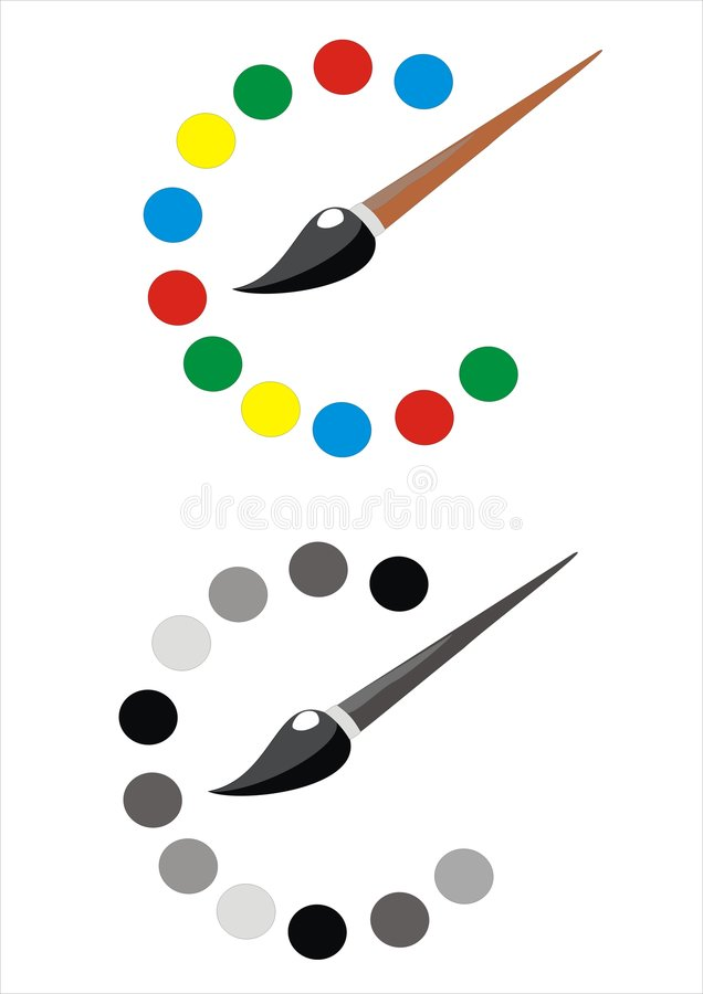 Download Brush stock illustration. Illustration of colors, print - 1987358