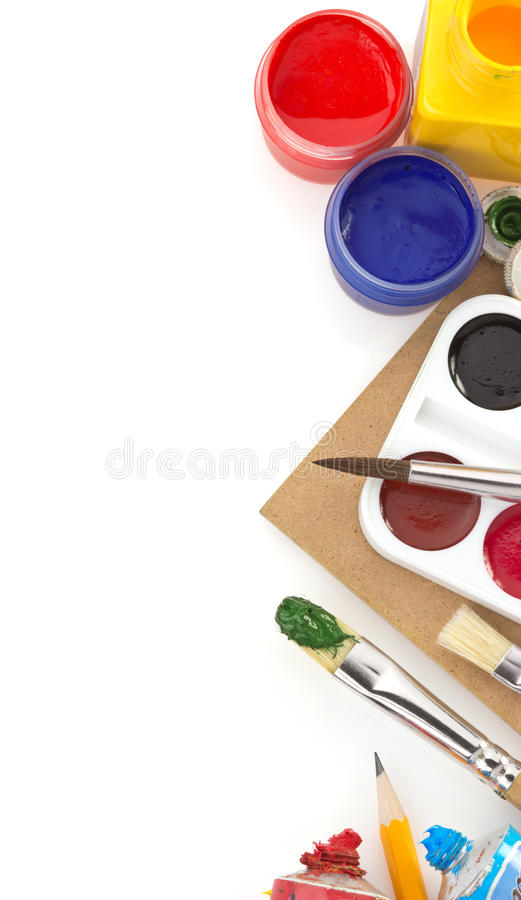 Free Brush And Paint On White Royalty Free Stock Photography - 30826357