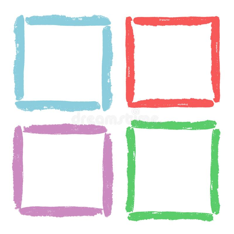 Funny Frames Set. Bright Colorful Pastel Color Hand Drawing Design ...
