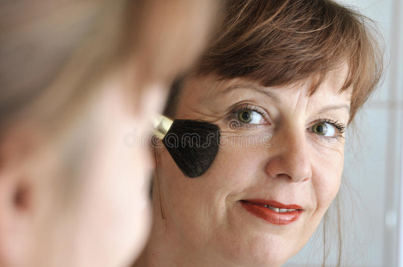 Download Brush at the cheek stock image. Image of reflection, caucasian - 11723281