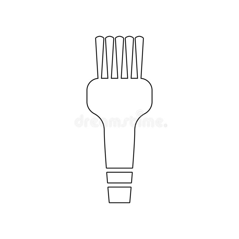 brush for cleaning hair icon. Element of Barber for mobile concept and web apps icon. Outline, thin line icon for website design stock illustration