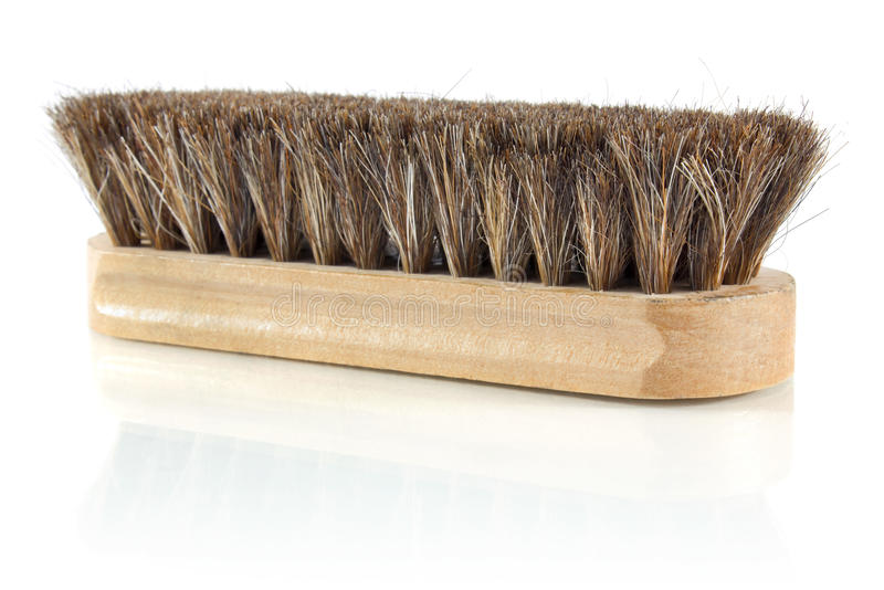 Brush for cleaning shoes stock photos