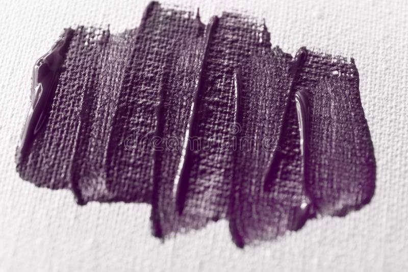 Brush color strokes on paper, closeup stock photography