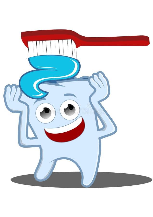 Brush dina tänder royaltyfri illustrationer