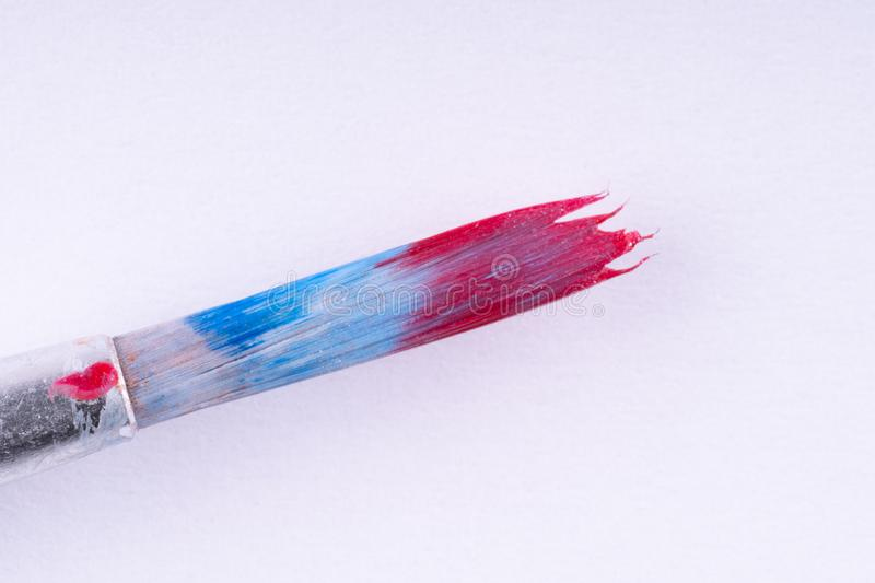 brush for drawing on a white background. clouse up stock image