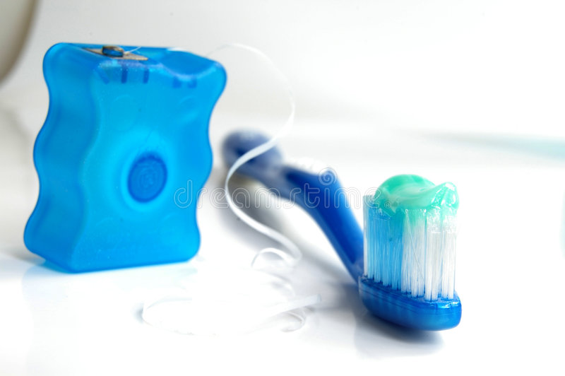 Brush And Floss Royalty Free Stock Photography