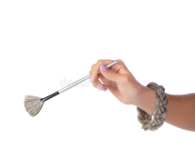Download Brush In Hand stock photo. Image of application, brush - 22872538