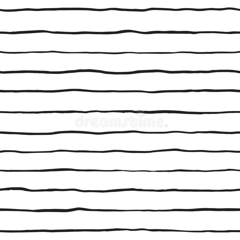 Brush hand drawn doodle stripes seamless pattern vector illustration