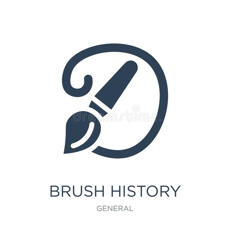 brush history icon in trendy design style. brush history icon isolated on white background. brush history vector icon simple and royalty free illustration