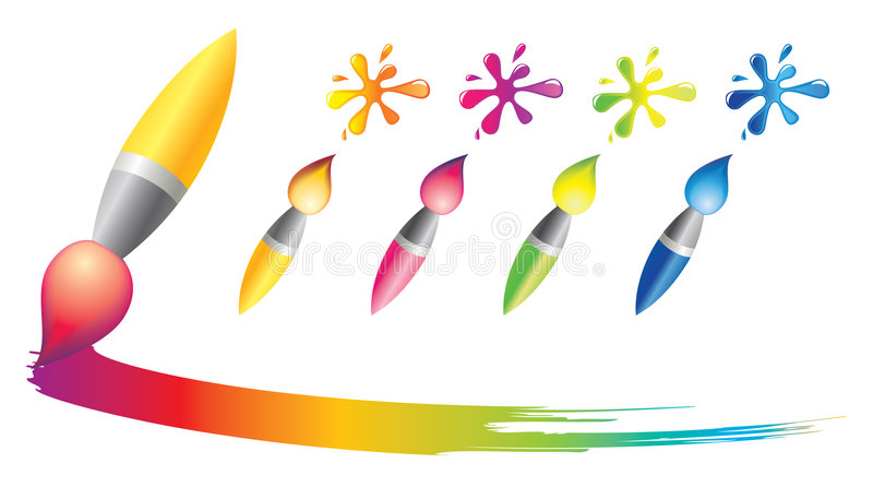 Download Brush icons stock vector. Image of design, line, painting - 8629157
